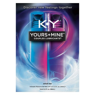 K-Y Yours + Mine Couples Personal Lube - 3oz - 2pk