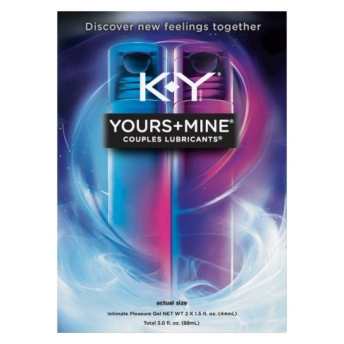 K-Y Yours + Mine Couples Personal Lube 3oz - 2pk - image 1 of 3
