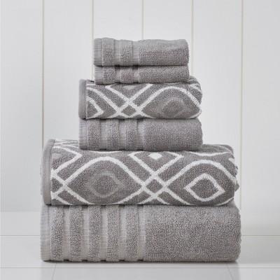 Modern Threads 6 Piece Yard Dyed Towel Set, Oxford.
