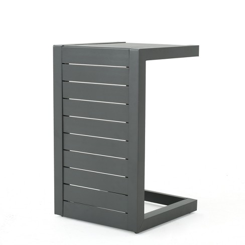 Cape Coral Aluminum C-Shaped Side Table - Christopher Knight Home - image 1 of 4