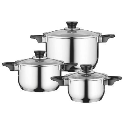 BergHOFF Essentials Gourmet 6Pc 18/10 Stainless Steel Cookware Set
