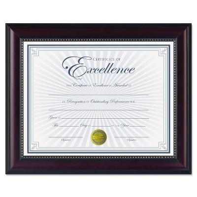 Dax Prestige Document Frame Rosewood/Black Gold Accents Certificate 8 1/2 x 11 N3028N2T