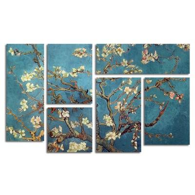 6pc Almond Blossoms by Vincent van Gogh - Trademark Fine Art