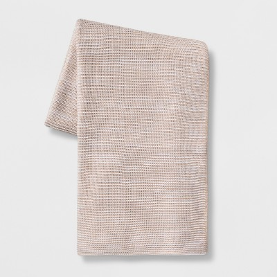 60 x 80  Marled Yarn Throw Blanket Neutral - Threshold™