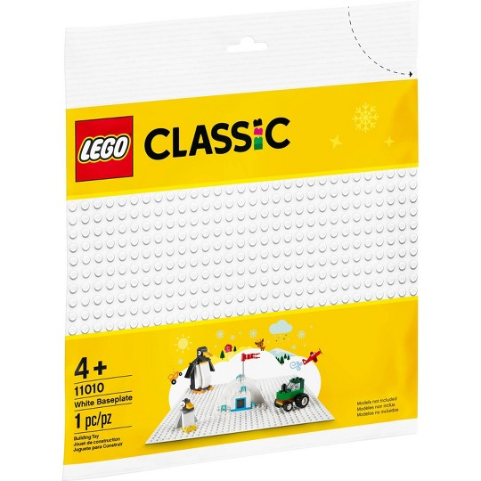 LEGO Classic White Baseplate 11010 Creative Toy for Kids image number null