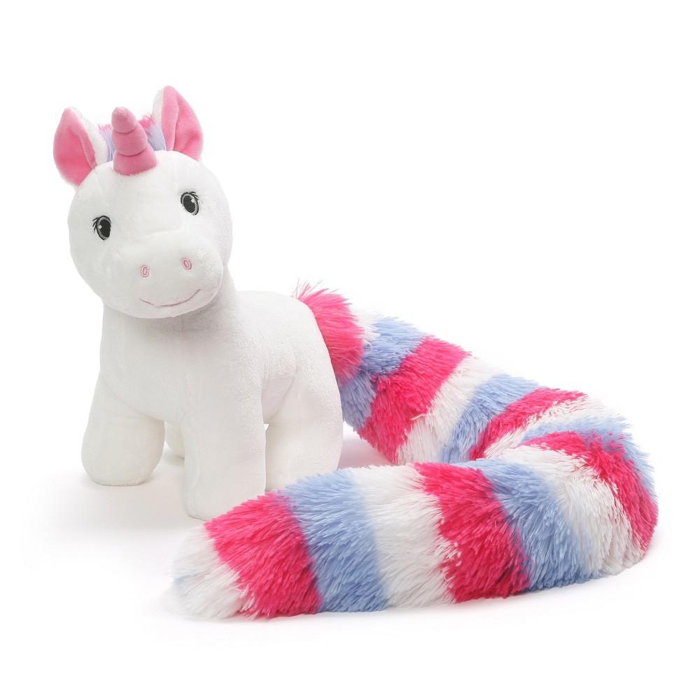 G by Gund Beautifurtails Unicorn Plush Stuffed Animal Pastel White, Pink, Blue 11