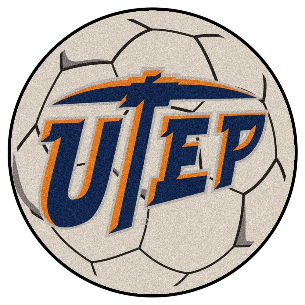 NCAA 27 Soccer Ball Mat Utep Miners