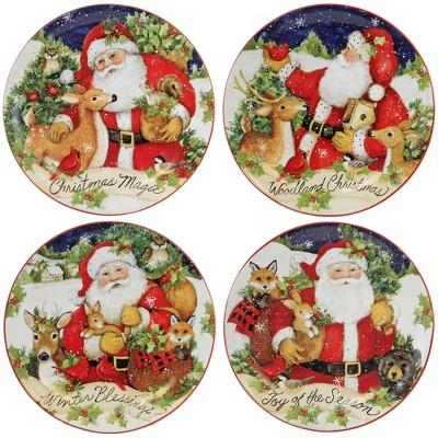 "Tabletop 9.0"" Magic Christmas Santa Dessert Plates Holiday Certified International  -  Dining Plates"