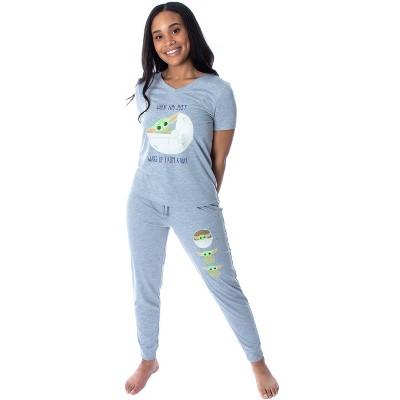 Star Wars Women's The Mandalorian Baby Yoda Shirt and Jogger Pants Pajama Set