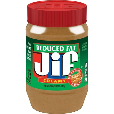 Jif Reduced Fat Creamy Peanut Butter - 40oz
