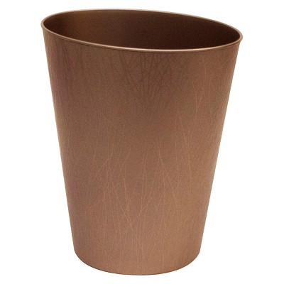 hefty decorative open bathroom waste can bronze target rh target com bronze bathroom trash can with lid Bathroom Trash Containers