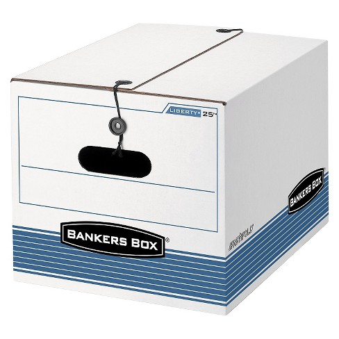 Bankers Box® STOR/FILE Exrta Strength Storage Box, Letter/Legal, White/Blue 12/Carton - image 1 of 1