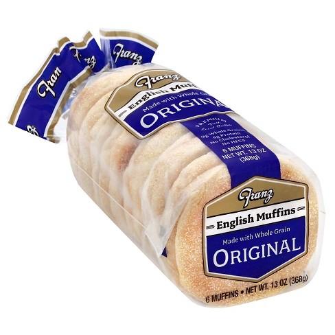 Franz Vegan Original English Muffins - 13oz/6ct - image 1 of 4