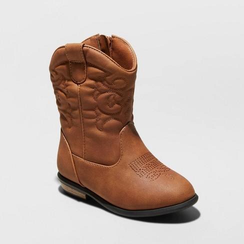 Toddler Girls' Basil Western Boots - Cat & Jack™ Brown - image 1 of 3