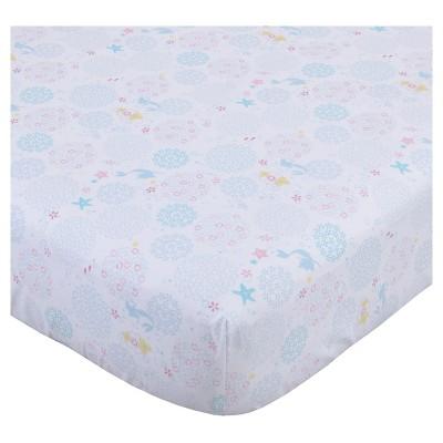 Disney© Fitted Crib Sheet - Ariel Sea Princess