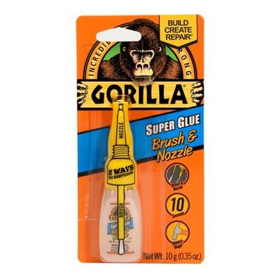Gorilla .35oz Super Glue with Brush & Nozzle