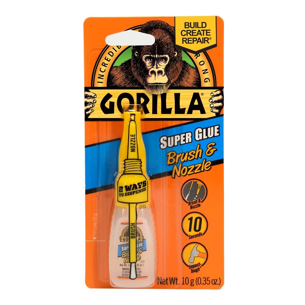 Image of Gorilla Super Glue Brush & Nozzle 10g - Clear