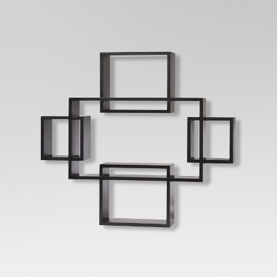 5pc Interlocking Shelf Set Black - Threshold™