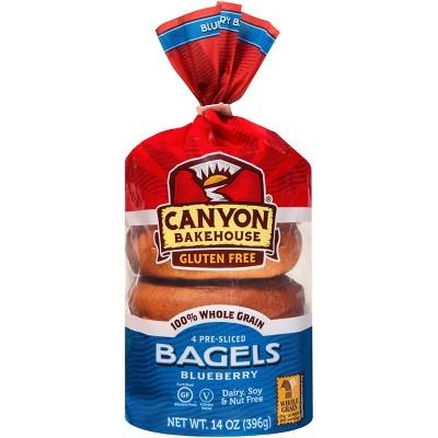 Canyon Bakehouse Gluten Free Blueberry Bagels - 14oz/4ct
