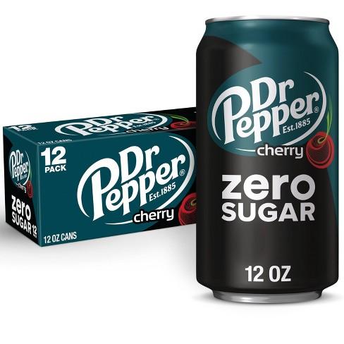Dr Pepper Zero Sugar Cherry Soda - 12pk/12 fl oz Cans - image 1 of 4