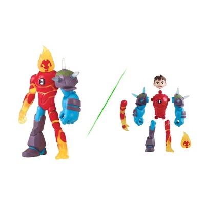 Ben 10 Omni-Glitch Heroes: Ben-Heatblast-Shock Rock Basic Figure