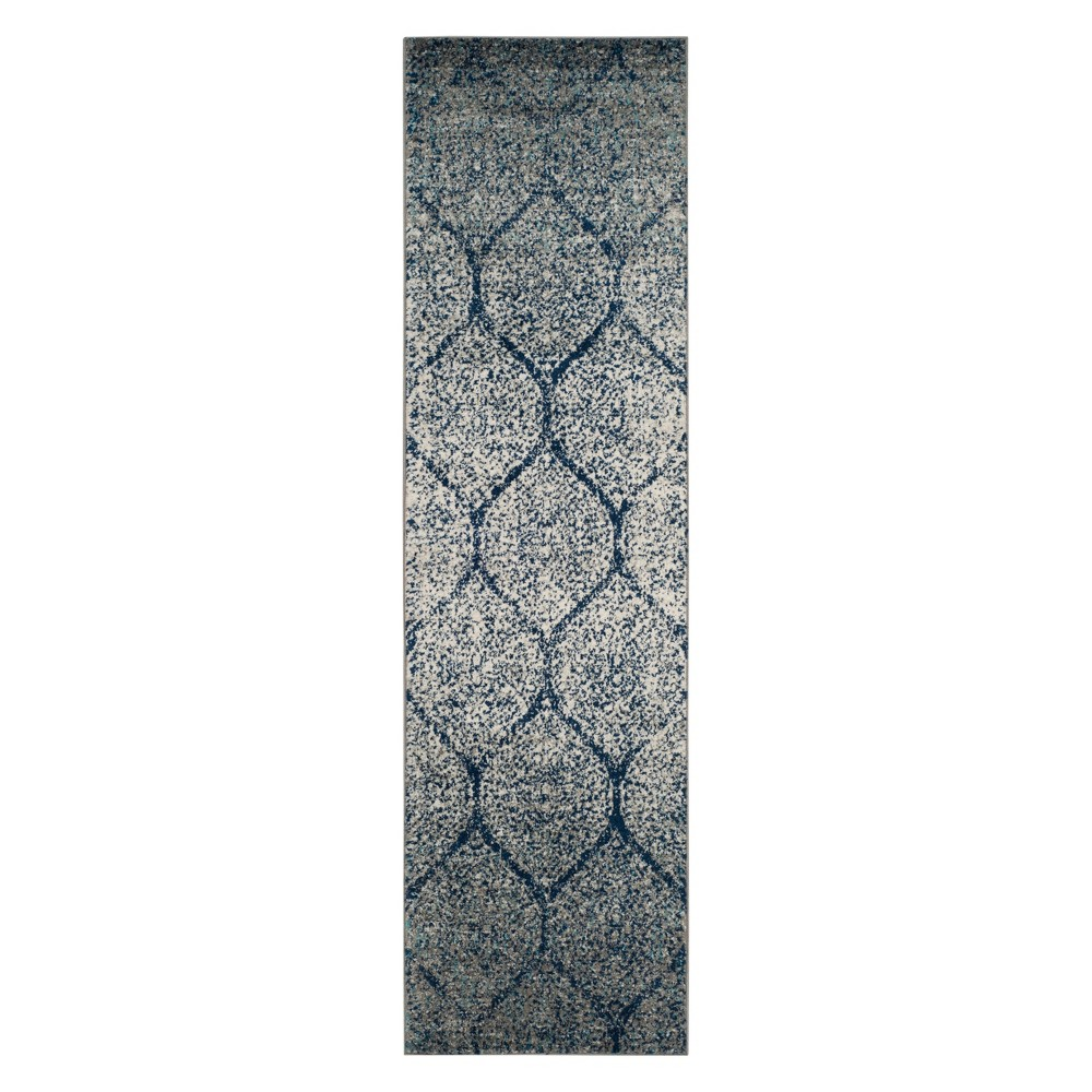 23X10 Shapes Loomed Runner Navy/Silver - Safavieh Coupons