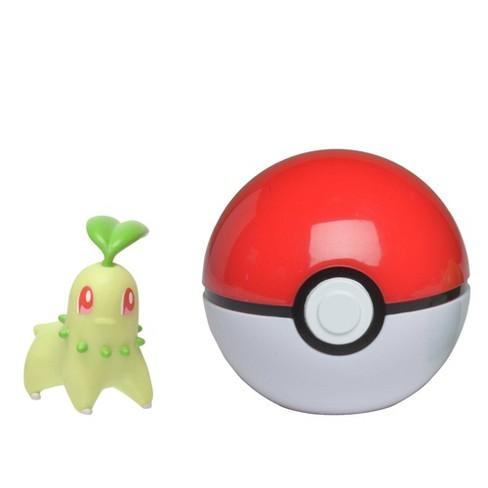Pokemon Chikorita Clip 'N Go Poke Ball - image 1 of 2