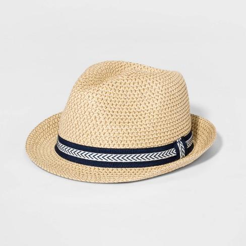 Boys  Straw Fedora Hat - Cat   Jack™ Natural   Target 2ce4fe9e70c7