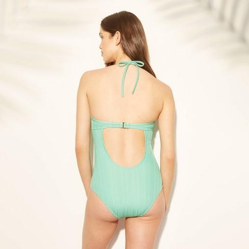 a605e311327e Women's Cabana Light Lift Ribbed Texture One Piece Swimsuit - Shade & Shore™  Spearmint Green : Target