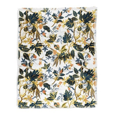 "60""X50"" Marta Barragan Camarasa Autumnal Nature I Throw Blanket Yellow - Deny Designs"