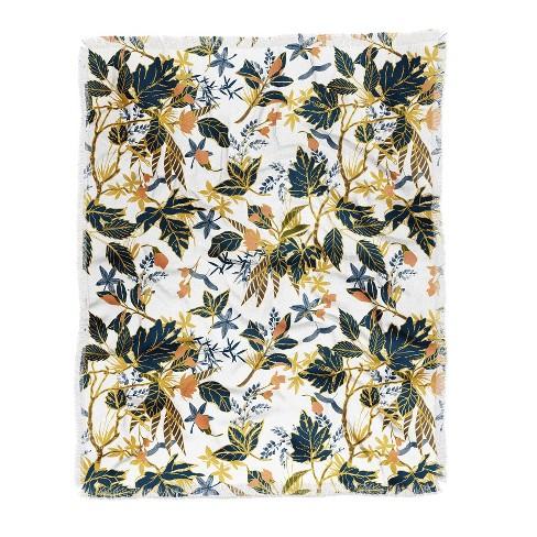 "60""X50"" Marta Barragan Camarasa Autumnal Nature I Throw Blanket Yellow - Deny Designs - image 1 of 2"