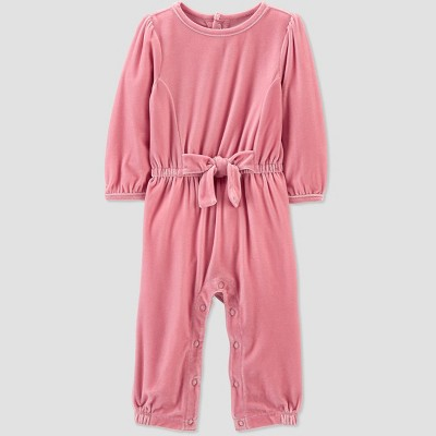 Baby Girls' Mauve Velvet Romper - Just One You® made by carter's Pink 12M