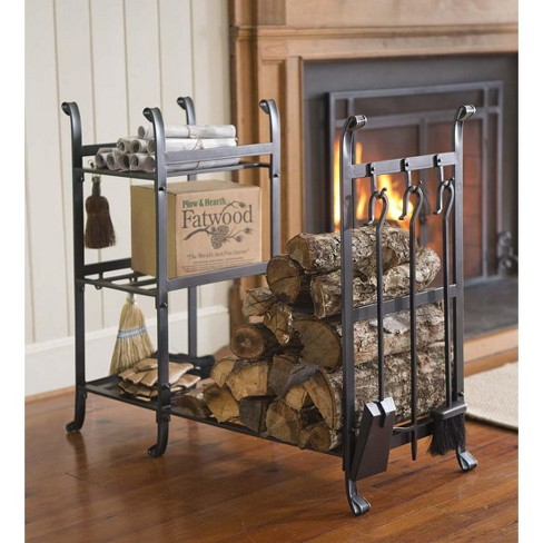 All-In-One Durable Wood Rack with Tools - Plow & Hearth - image 1 of 3