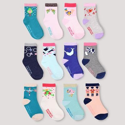 Toddler Girls' 12pk Days of Socks - Cat & Jack™ 2T-5T