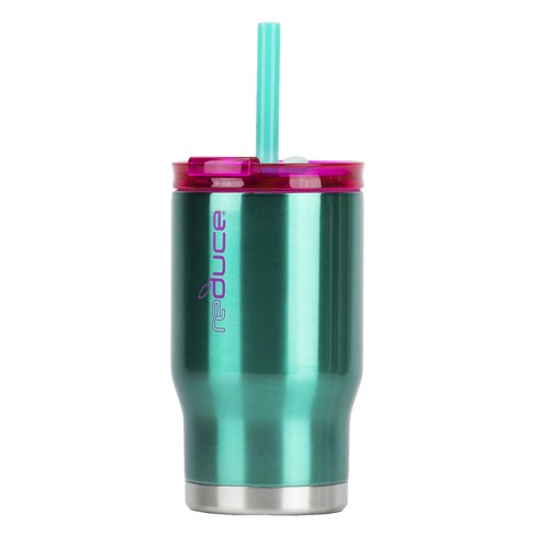 09b0c20b77e Reduce 14oz Stainless Steel Tumbler With Lid And Straw Teal/Purple