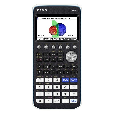 Casio High-Resolution 3D Color Graphing Calculator - Black (FX-CG50)
