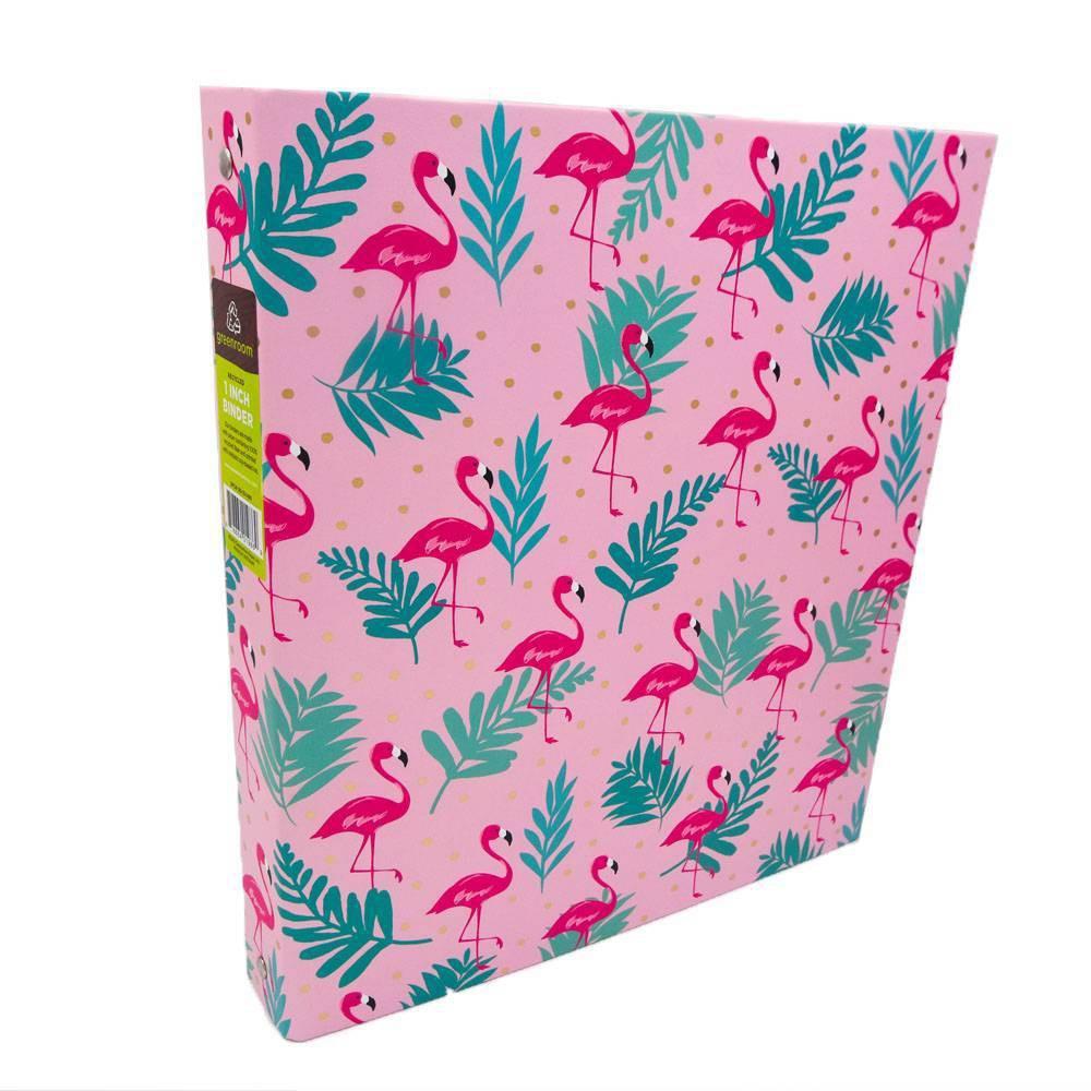 """Image of """"175 Sheet 1"""""""" Ring Binder Flamingos Pink - Greenroom"""""""