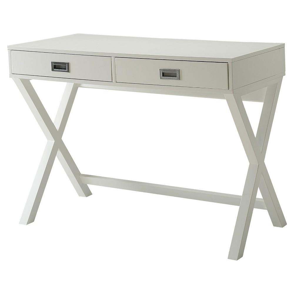 Designs2Go Landon Desk White - Convenience Concepts