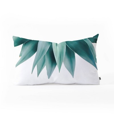 Gale Switzer Agave Fringe Oblong Lumbar Throw Pillow Green - Deny Designs