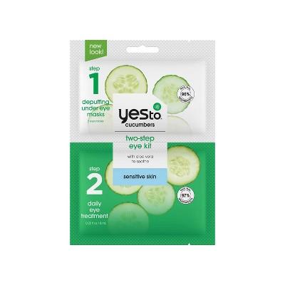 Yes To Cucumbers 2-Step Single Use Eye Kit Buh-Bye Bags & Dark Circles!