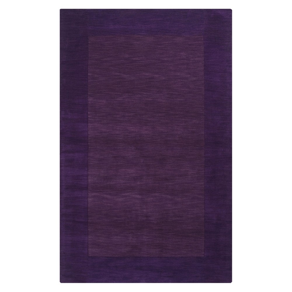 Egg Plant Solid Woven Accent Rug - (3'3