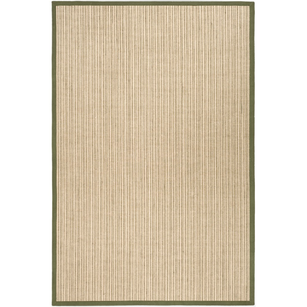 6'X9' Stripe Loomed Area Rug Green - Safavieh