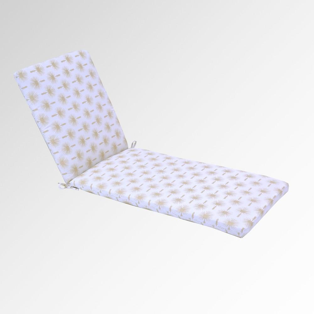 Palm Print Outdoor Chaise Cushion - Threshold, White