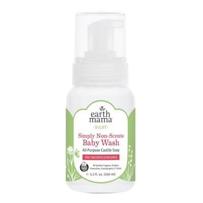 Earth Mama Organics Simply Non-Scents Castile Baby Wash - 5.3 fl oz
