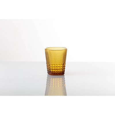 11.5oz 6pk Crystal Malcolm Double Old Fashion Glasses Amber - Fortessa Tableware Solutions