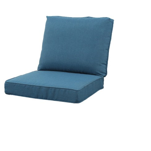 Rolston Outdoor Seat and Back Chair Cushion - Medium Blue - Threshold™ - image 1 of 1