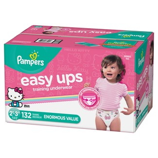 Pampers Easy Ups Girls' Training Pants Enormous Pack - 2T-3T (132ct)