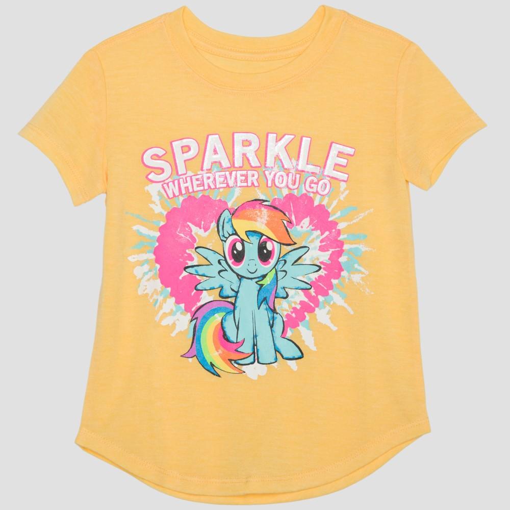 Toddler Girls' Hasbro My Little Pony Rainbow Dash Short Sleeve T-Shirt - Yellow 4T