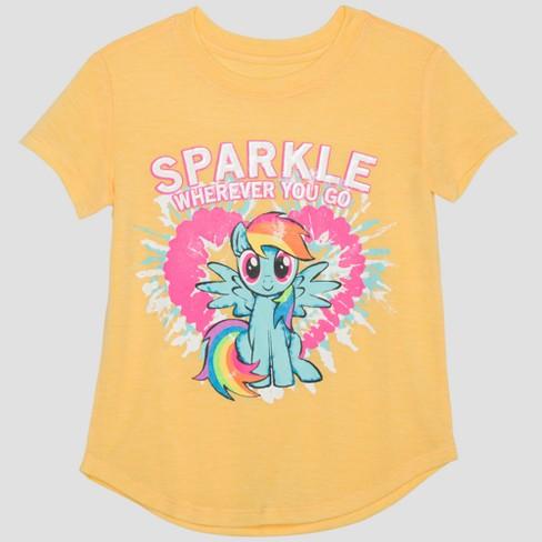 2daf1f9170f Toddler Girls  Hasbro My Little Pony Rainbow Dash Short Sleeve T-Shirt -  Yellow