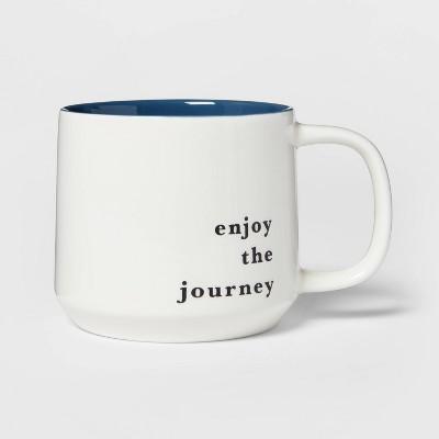 16oz Stoneware Enjoy The Journey Color Splash Mug - Threshold™